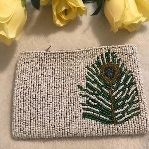 Small beaded coin bag